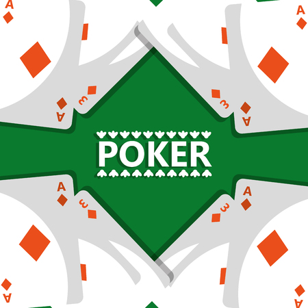 poker design cards and game concept casino vector illustration Ilustração