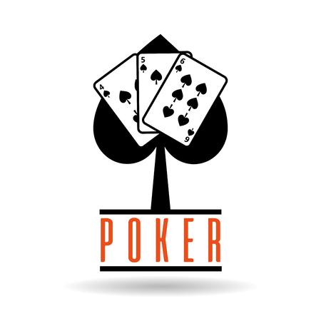 Coltello da poker vanga carta da gioco per illustrazione vettoriale di concetto di gioco Archivio Fotografico - 89285455