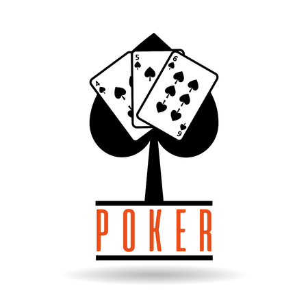 poker spade cards suit for gambling concept vector illustration 向量圖像