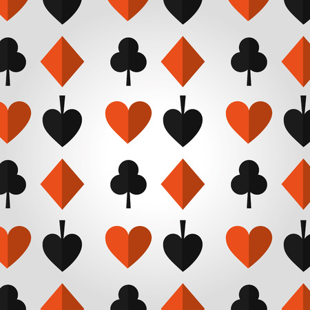 poker casino hazard design seamless pattern vector illustration
