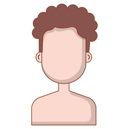 young man shirtless avatar character vector illustration design Stock Vector - 89167264