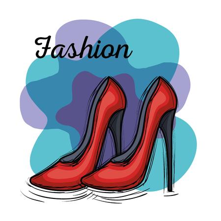 Vrouwelijke mode schoenen pictogram vector illustratie ontwerp Stockfoto - 89172516