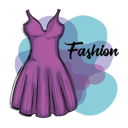female fashion dress icon vector illustration design