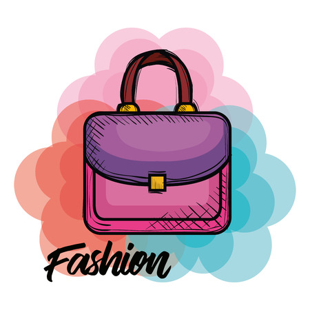female fashion handbag icon vector illustration design