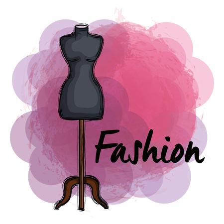 female fashion manequin icon vector illustration design