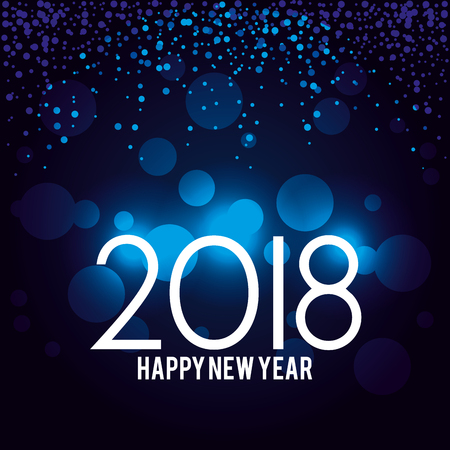 happy new year 2018 postcard vector illustration design Illustration