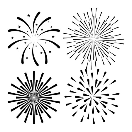 sunburst decorative set icons vector illustration design Ilustração
