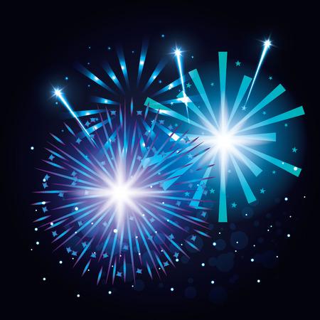 装飾花火爆発ポスターベクトルイラストデザイン  イラスト・ベクター素材