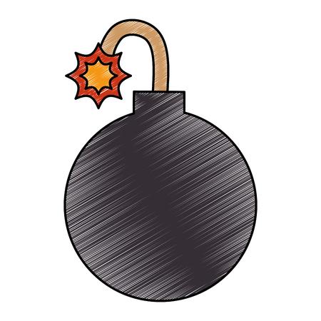 giek explosief geïsoleerd pictogram vectorillustratieontwerp