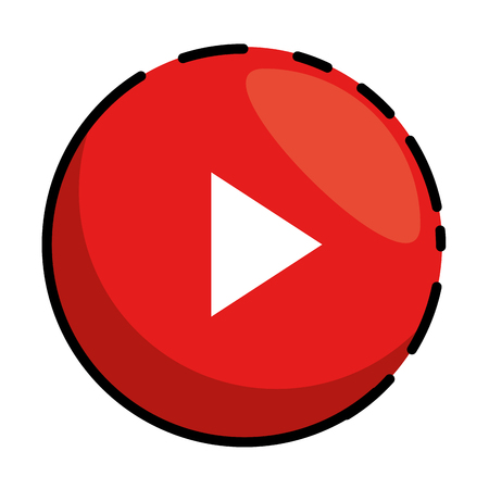 play button isolated icon vector illustration design 일러스트