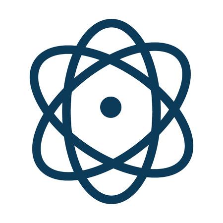 atom molecule isolated icon vector illustration design Illusztráció