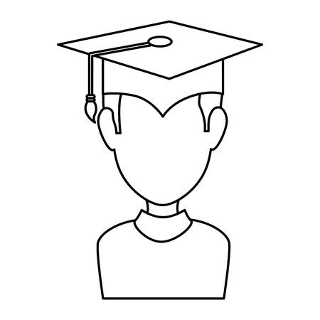 graduated avatar character icon vector illustration design Çizim