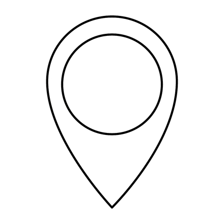 pin pointer location icon vector illustration design Banco de Imagens - 89251295