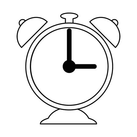 Wecker lokalisiertes Ikonenvektor-Illustrationsdesign Standard-Bild - 89251307
