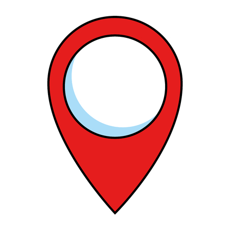 Pin puntero ubicación icono vector ilustración diseño Foto de archivo - 89251363
