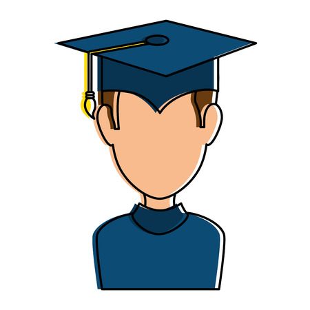 graduated avatar character icon vector illustration design Illusztráció