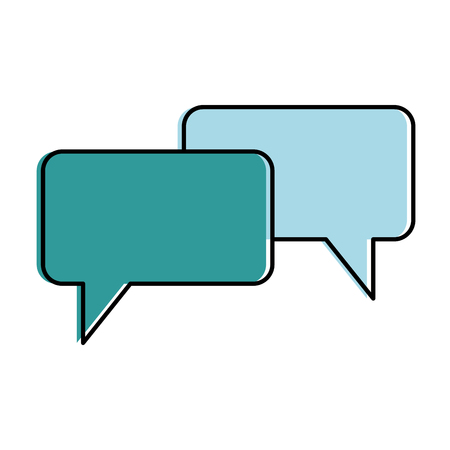 speech bubbles isolated icon vector illustration design 向量圖像
