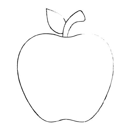 Apfel frisches Obst Symbol Vektor-Illustration Design Vektorgrafik