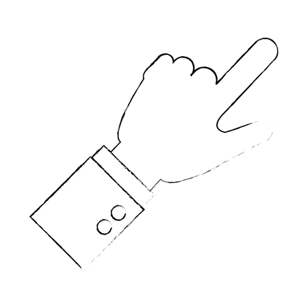 hand human touching icon vector illustration design