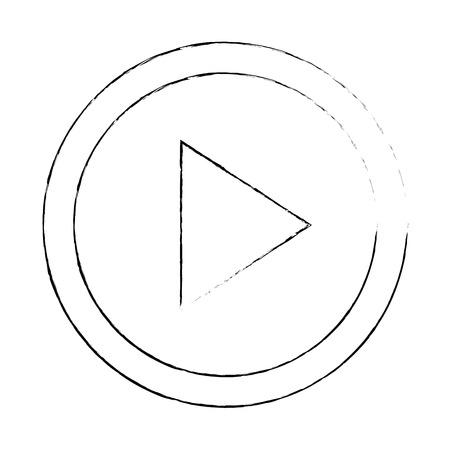 버튼 격리 된 아이콘 벡터 일러스트 디자인 재생 스톡 콘텐츠 - 89251644