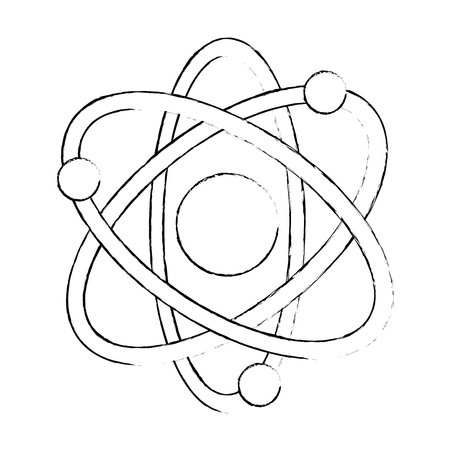 atom molecule isolated icon vector illustration design Çizim