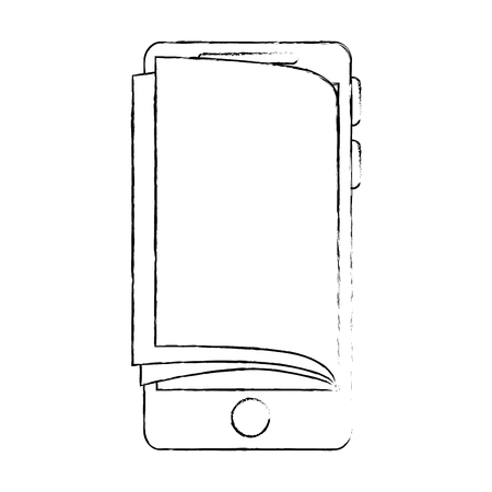 smartphone device with ebook vector illustration design Illustration