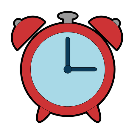 alarm clock isolated icon vector illustration design