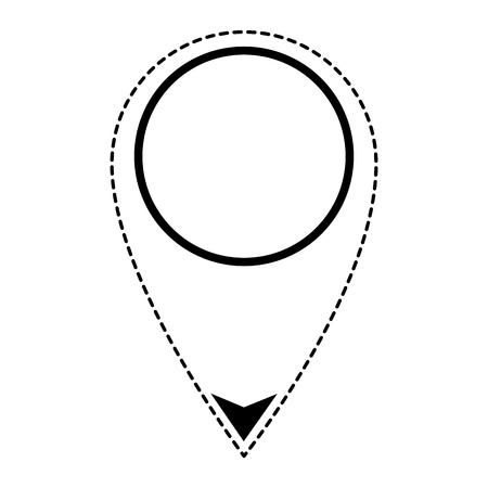 Pino ponteiro localização ícone vector ilustração design Foto de archivo - 89251738