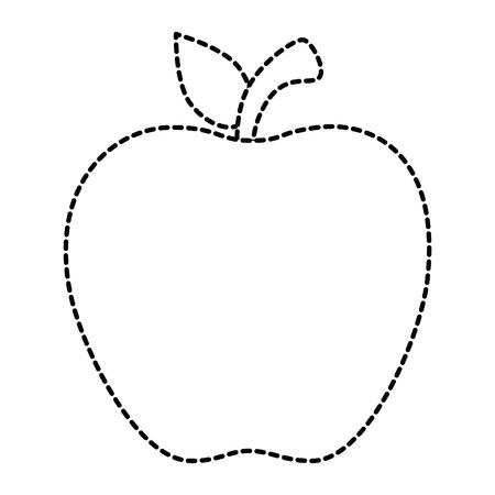 pomme fruits frais icône illustration vectorielle conception