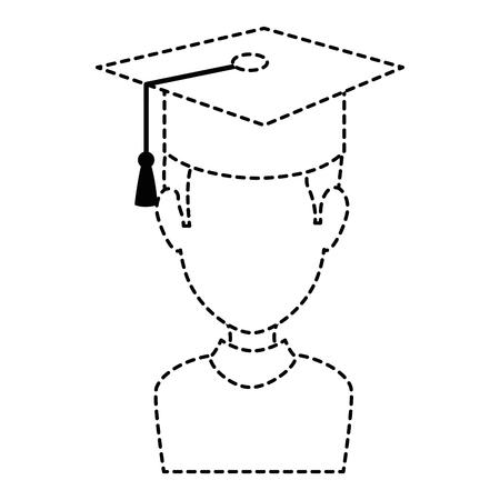 graduated avatar character icon vector illustration design Stok Fotoğraf - 89278464