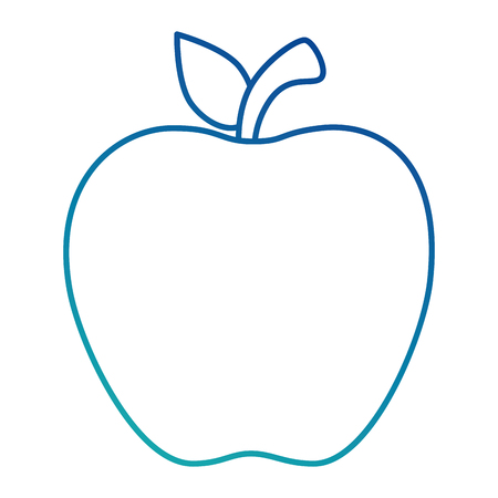 Apfel frisches Obst Symbol Vektor-Illustration Design