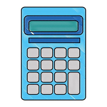계산기 수학 장치 아이콘 벡터 일러스트 레이 션 디자인 일러스트