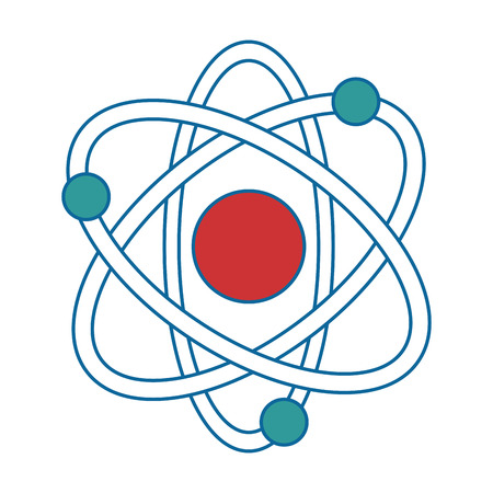 atom molecule isolated icon vector illustration design Illusztráció