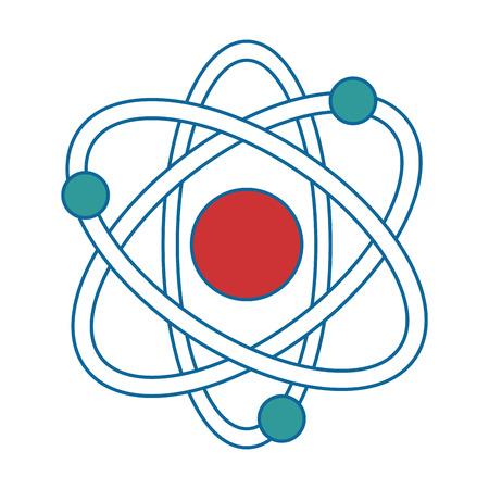 Atoommolecule geïsoleerd pictogram vector illustratie ontwerp