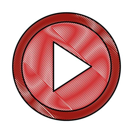 버튼 격리 된 아이콘 벡터 일러스트 디자인 재생 스톡 콘텐츠 - 89285484