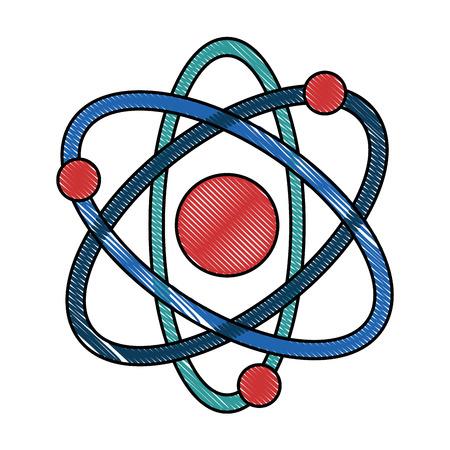 原子分子分離アイコンベクトルイラストデザイン  イラスト・ベクター素材