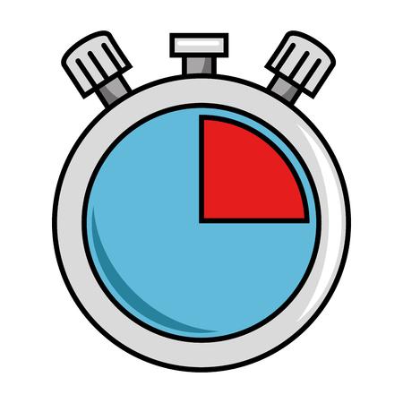 Chronomètre minuterie isolé icône dessin vectoriel Banque d'images - 89285525