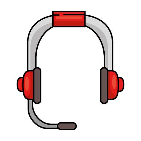 customer service phone: headset communication device icon vector illustration design Illustration