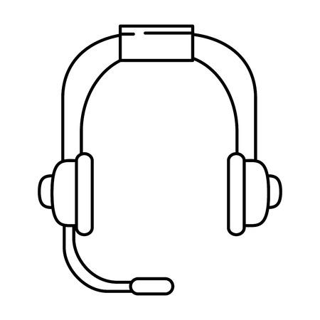 headset communication device icon vector illustration design Ilustração