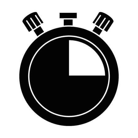 Chronomètre minuterie isolé icône dessin vectoriel Banque d'images - 89286885