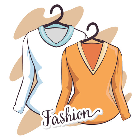 stylish woman fashion clothes vector illustration graphic design