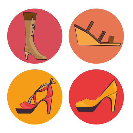 stylish woman fashion accesories vector illustration graphic design