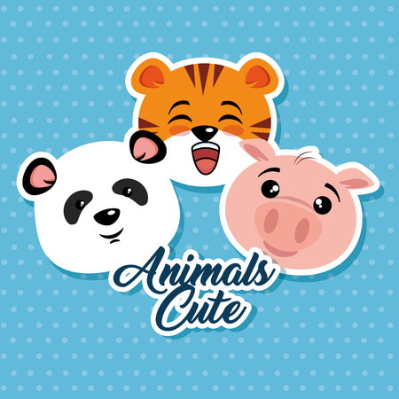 cute animals cartoon vector illustration graphic design