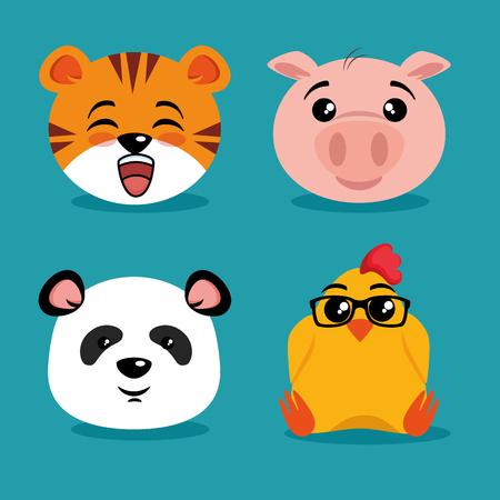 Schattige dieren cartoon vector illustratie grafisch ontwerp Stockfoto - 89288800