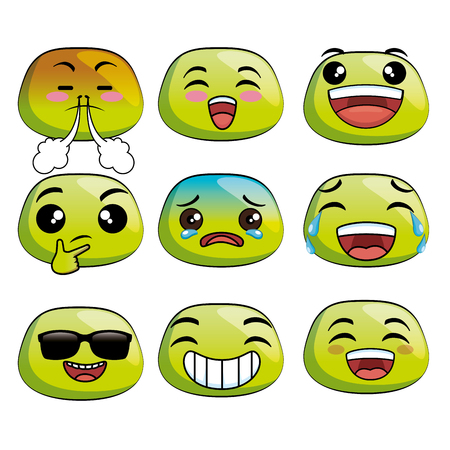 cute emoji cartoon vector illustration graphic design