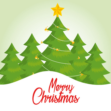 merry christmas greeting card vector illustration graphic design