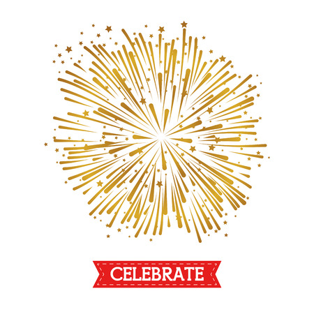 brightly colorful fireworks and celebration background vector illustration graphic design