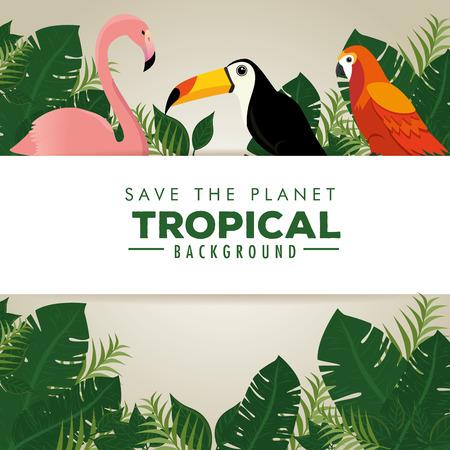 summer tropical background vector illustration graphic design