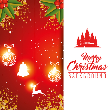 colorful and bright merry christmas background vector illustration graphic design stock vector 89372407 - Merry Christmas Background