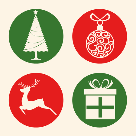 christmas holiday icons vector illustration graphic design